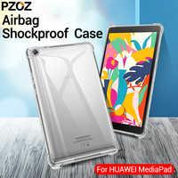 PZOZ per HuaWei M6 caso della copertura Del Silicone Antiurto Tpu Trasparente Borsette HuaWei M3 M5 8.4 10.8 M3 M5 lite 8.0 10.1 Tablet caso
