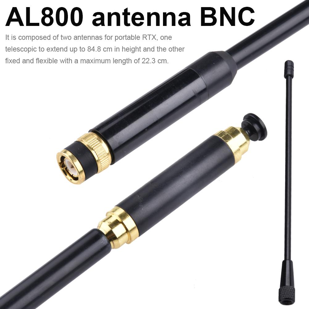 AL800 Walkie-talkie Telescopic Antenna High Gain UHF VHF Dual Band Maschio Per BAOFENG CB Radio Walkie Talkie Accessories