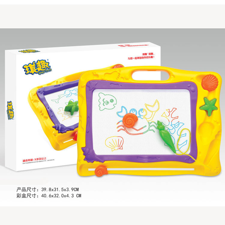 Children Early Education Toy Color Magnetic Stamp Sketchpad Drawing Doodle Board Magnetic Drawing Board 6688