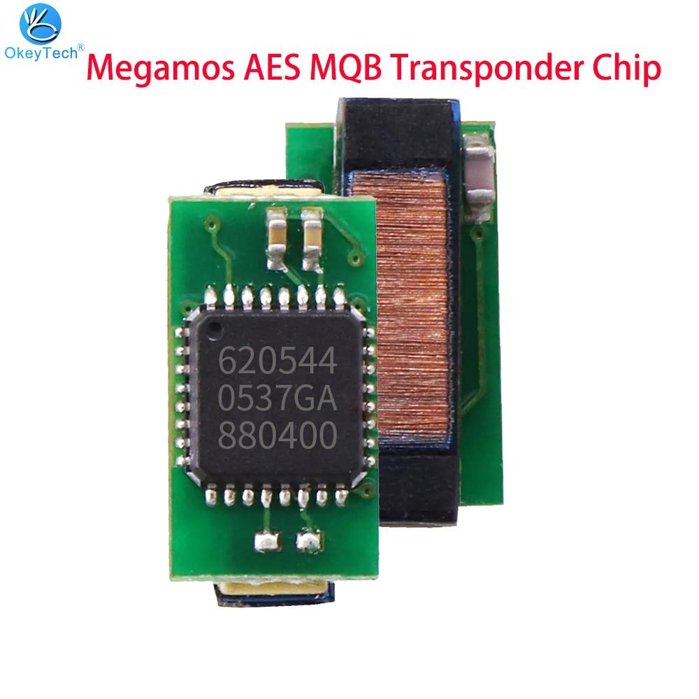 OkeyTech 1 шт. новейший транспондер Megamos AES MQB чип для VW автомобильный ключ MQB чип для Fiat для Audi для Volkswagen высокое качество
