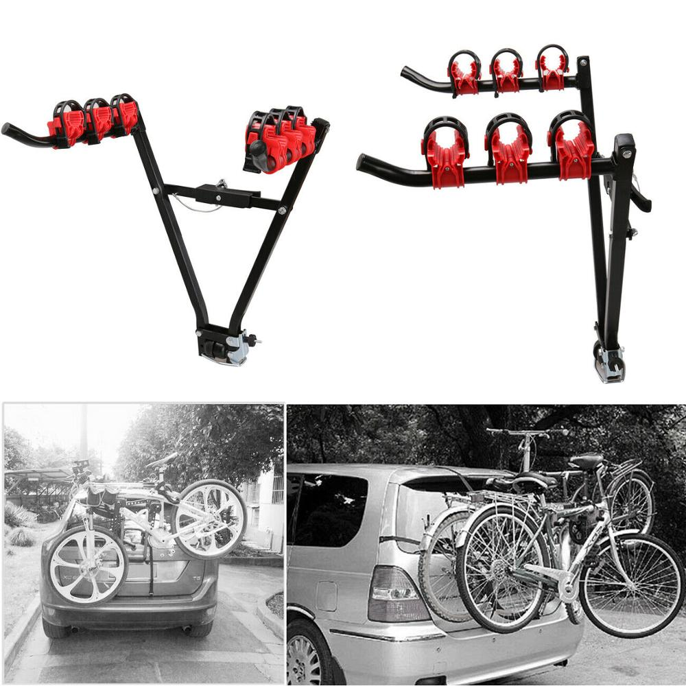 (Ship From EU)3 Bicycle Carrier Bicycle Bike Holder Towbar Wheels Rear Carrier Bicycle Foldable