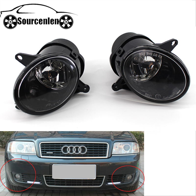Fog Lights Foglights for Audi A6 C5 Headlight 2001 2002 2003 2004 2005 Front Halogen Fog Lamp Assembly Headlights DRL Fog Light image