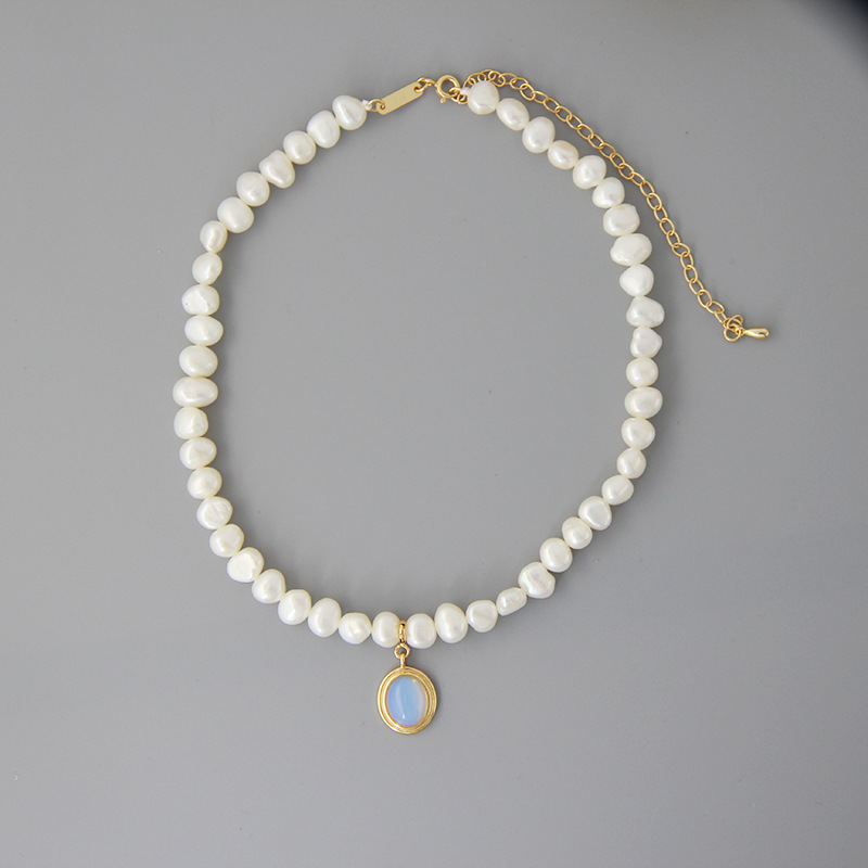 Image 5 - Silvology Natural Pearl Moonstone Womens Necklace 925 Sterling Silver Gold Elegant Luxurious Pendant Necklace Friendship Jewelry-in Necklaces from Jewelry & Accessories