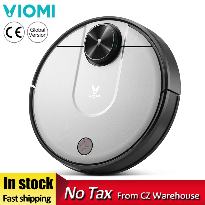 XIAOMI VIOMI V2 Pro Robot Vacuum Cleane 2100Pa Strong Suction LDS Sensor APP Virtual Wall Self-Charging 2 In 1 Sweeping Mopping