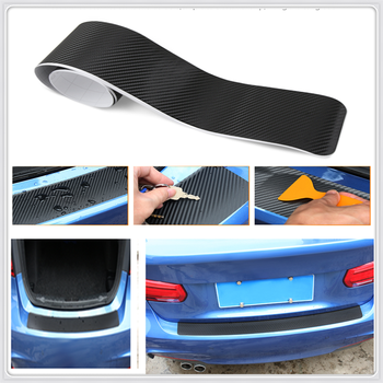 car Styling carbon Fiber car Rear Bumper Trunk Stickers For BMW 530Li 335i 750i 330i 325i 320si 630i X6 M6 640i 640d image
