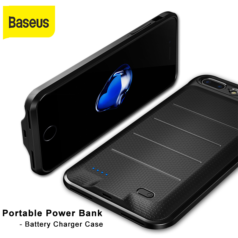 Baseus portable power bank phone case battery charger protection case for iphone 6 6s 7 7plus 3650mah power bank for iphone