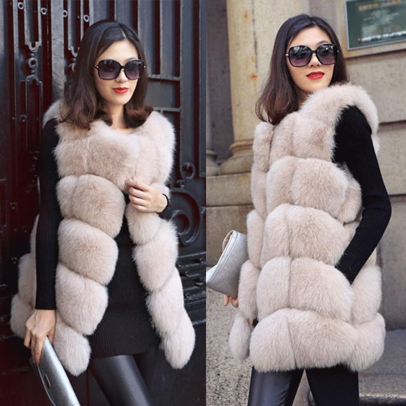 Mode fausse fourrure manteau décontracté solide femelle fourrure manteau S-4xl hiver manteau femmes sans manches automne grande taille fourrure veste femme pardessus