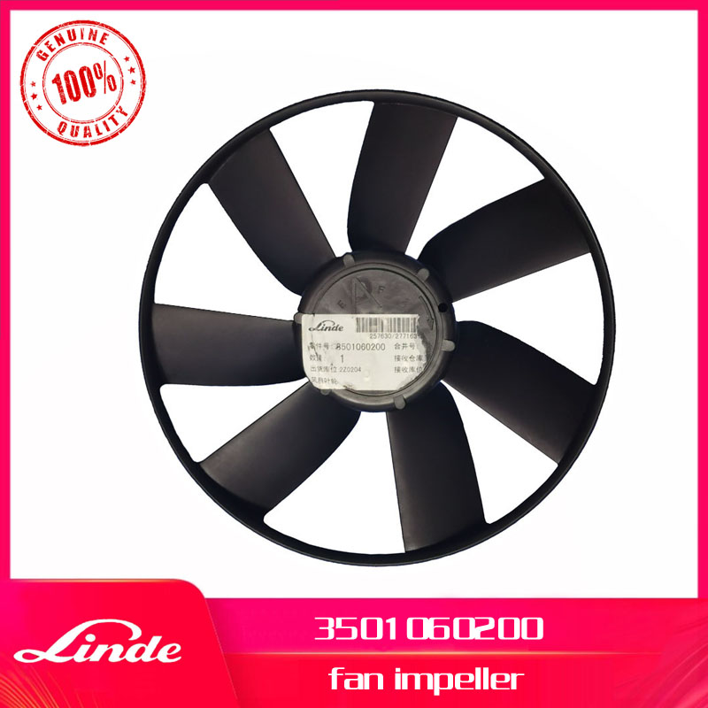 Linde Forklift Genuine Part 3501060200 Fan Impeller Used On 350 Diesel Truck H12 H16 H18 H20 New Service Spare Parts