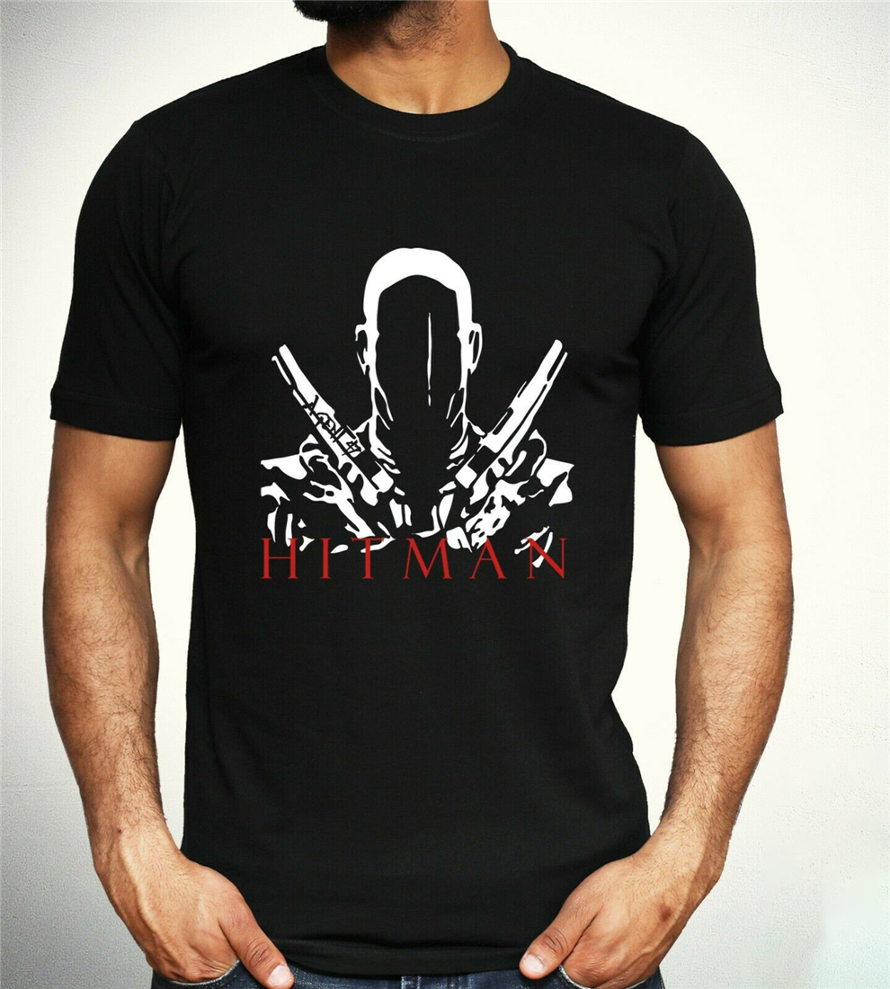 Hitman Agent 47 T-Shirt Guns Tv Film Movie Gamer Gaming Gift Tee Adult Kids Top High Quality Tee Shirt image