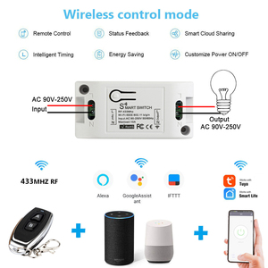 Image 3 - Rubrum RF 433 110V 220V สมาร์ท WiFi ไร้สายรีโมทคอนโทรลสมาร์ทสวิตช์ Smart Life/Tuya APP ทำงานร่วมกับ Alexa บ้าน