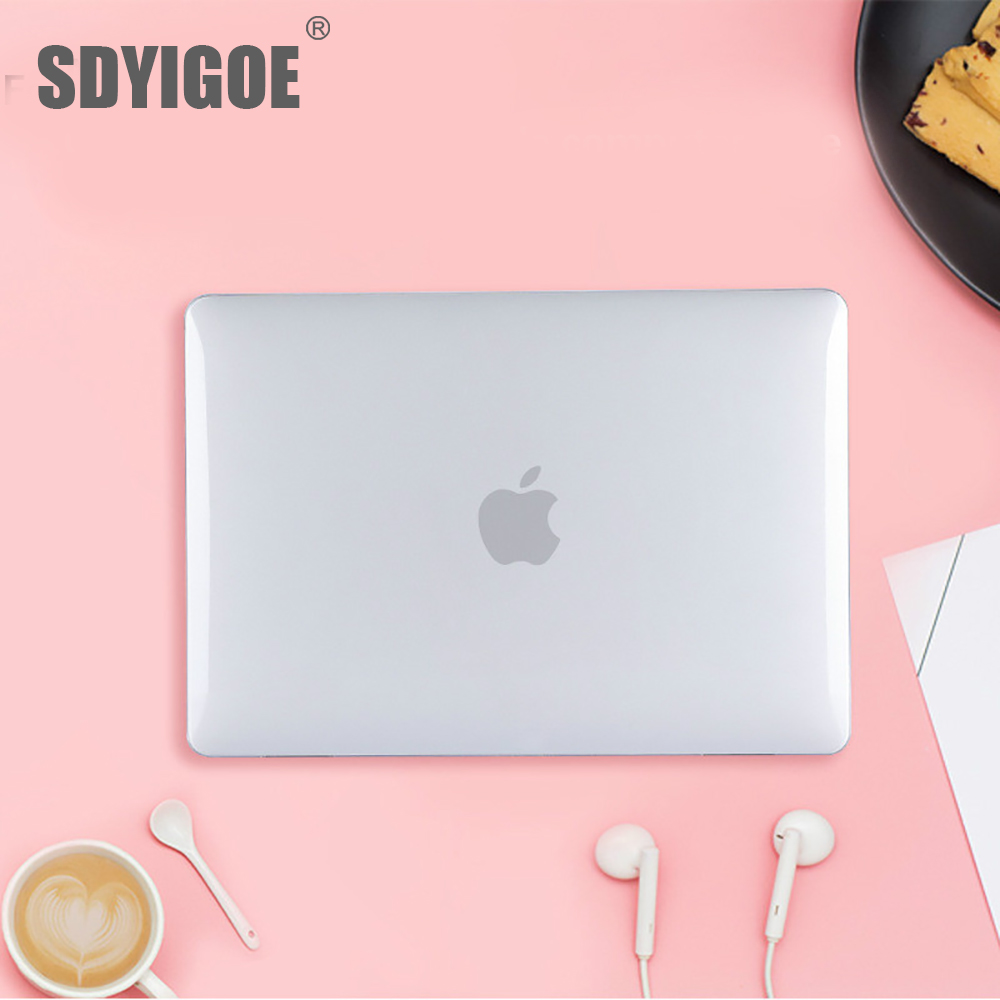 Laptop Cases Crystal Cases For MacBook Touchbar Pro13 15 Inch A2159 A1989 A1932 A1502 A1708  For Apple Notebook Case Hard Shell
