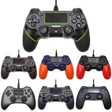 السلكية وحدة تحكم USB ل PS4 وحدة التحكم مع 2.2 متر كابل ل PS3 وحدة التحكم ل بلاي ستيشن ل Dualshock 4 الاهتزاز غمبد