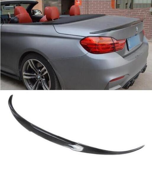 Carbon Fiber Rear Trunk Spoiler For 14-18 BMW 4 Series F33 Convertible Type E