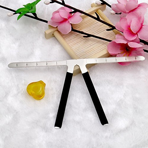 2Pcs Three-Point Positioning Ruler Permanent Makeup Tattoo Eyebrow Measure Ruler Symmetrical Balance Grooming Stencil Tool 4