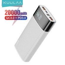 KUULAA – batterie externe 20000 mAh, charge rapide, USB, QC PD 3.0, pour Xiaomi Mi