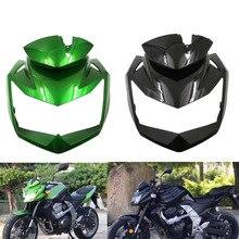 Carenado de la parte superior del cabezal delantero de la motocicleta, inyección sin pintar, negro, verde, para Kawasaki Z750, Z 750, 2007, 2008, 2009, 2010, 2011, 2012