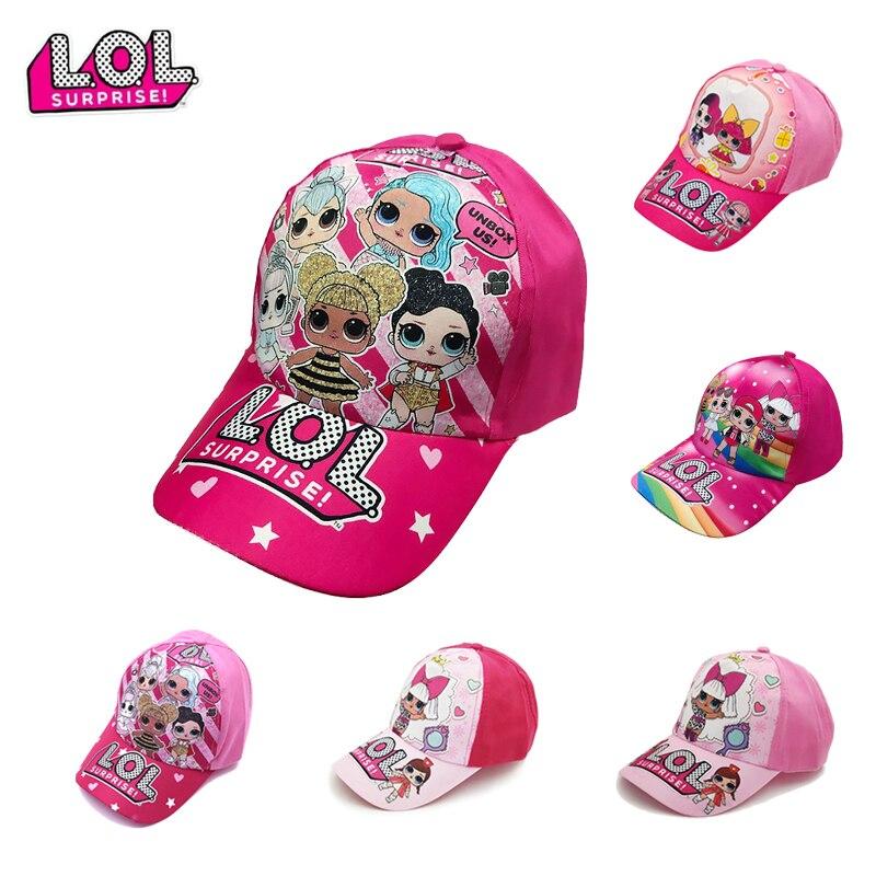 LOL Dolls Hat Hot Sale Children Baseball Cap Kids Boys Girls Fashion Dolls Sun Hat Peaked Cap Kids Toy Gift 8 Styles