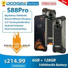 Doogee s88 pro ip68/ip69k áspero telefone celular 10000mah 6.3 telephones ffhd + smartphone helio p70 octa núcleo 6gb 128gb android 10 telefones