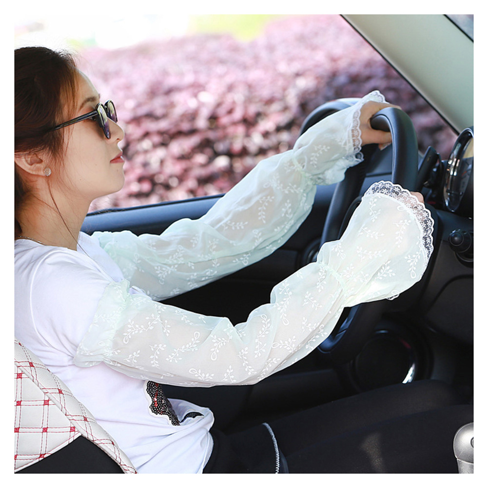 Lady Sunscreen Gloves Long Gloves Sun UV Hand Cover Lace Arm Sleeves For Women Girls Summer A66