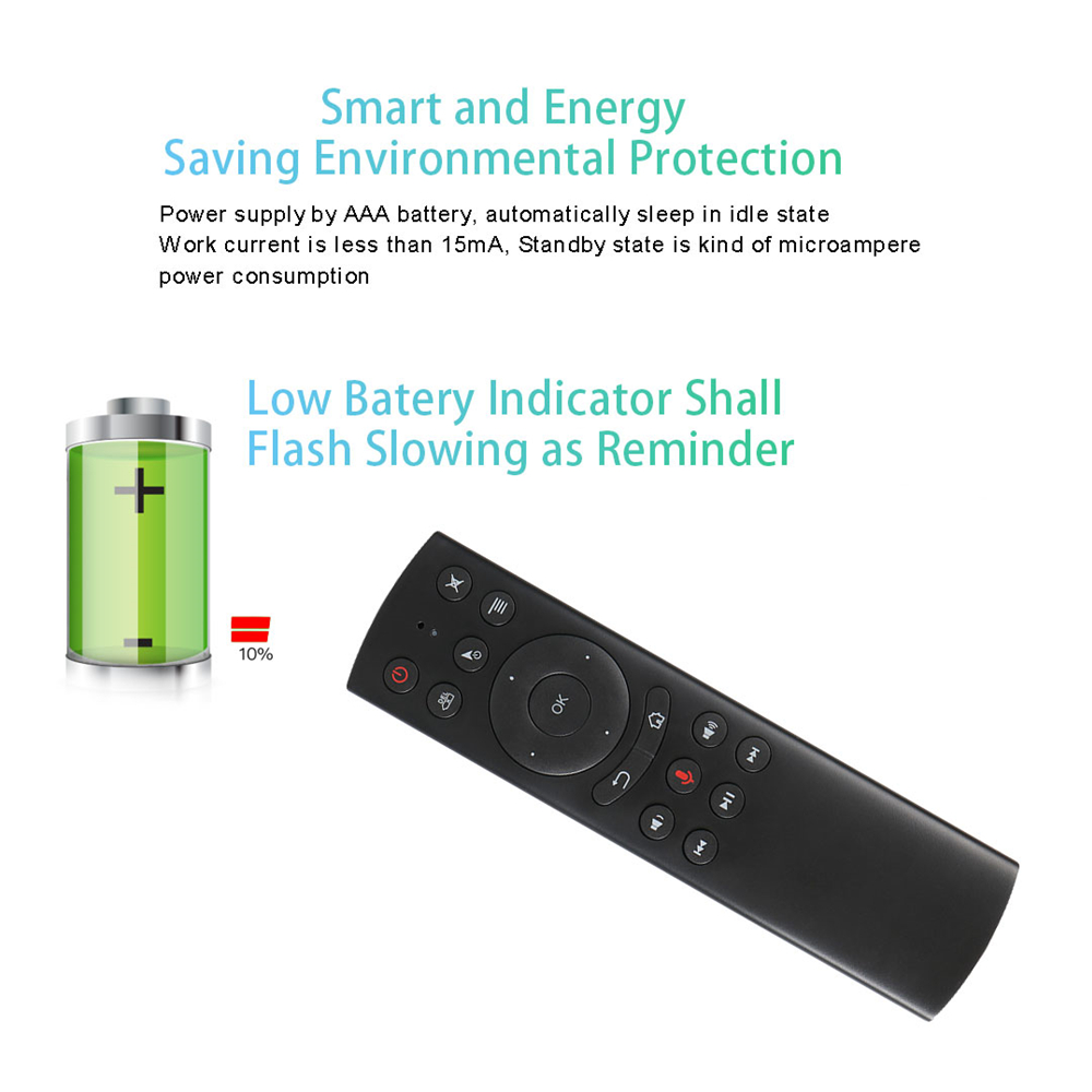 L8star G20S 2.4G Wireless Air Mouse Gyro Voice Control Sensing Universal Mini Keyboard Remote Control For PC Android TV Box 5