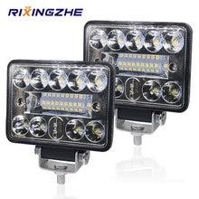 Barra de luces led de 12V y 54W para coche, foco de luz LED de 3030 LEDs 18SMD para camión, Tractor, SUV, 4x4, faros LED para automóvil, 2 uds.