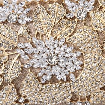 Diamond Rhinestone Gold Evening Clutch  5