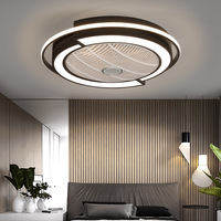 Intelligent remote control LED fan ceiling light dimmable for living room dining room bedroom fan lighting 110V 220V