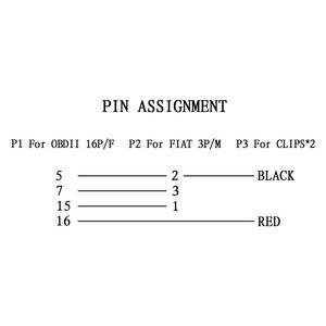 Image 2 - Obd Plug 3PIN Obd2อะแดปเตอร์สำหรับFIAT 3 Pin To 16 PinอัตโนมัติELM327เครื่องสแกนเนอร์รถยนต์สำหรับFiat 3pinสายวินิจฉัย