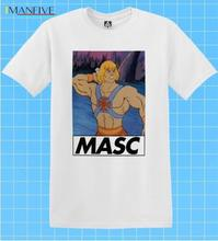 Masc T-shirt He Man Retro LGBT Muscle Tee Pride Gay Funny Dom Bottom Trade Top Cotton Fashion Men T Shirt Homme High Quality