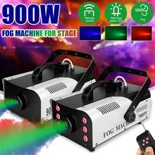900W 디스코 다채로운 연기 3in1 기계 LED 원격 fogger 이젝터 dj 크리스마스 파티 무대 조명 안개 기계 파티 결혼식