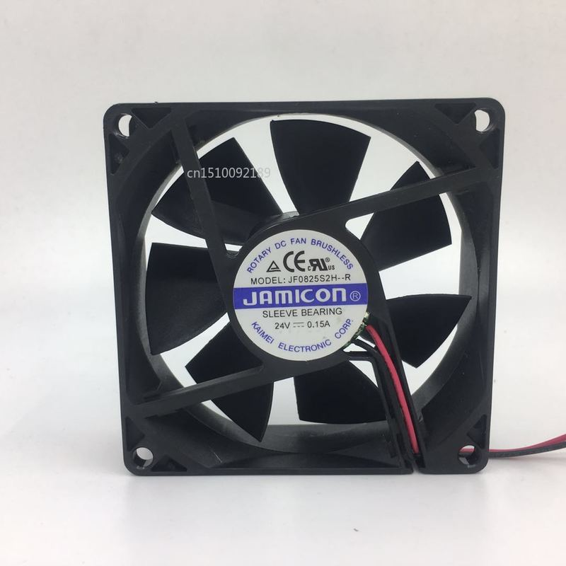 For Jamicon 8025 8CM Inverter Silent Fan 24V 0.15A JF0825S2H-R Free Shipping