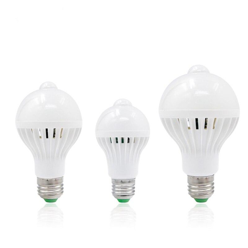 PIR Motion Sensor Led Lamp Bulb E27 220V 5W 7W 9W SMD 5730 Automatic Smart Detection Led Infrared Body Motion Sensor Light