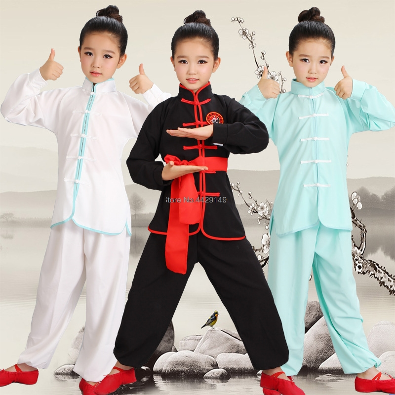 New Wushu Costume Children Chinese Traditional Clothing Kids Martial Arts Uniform Kung Fu Suit Girls Boys Stage Performance Set
