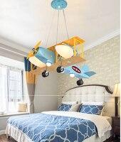 Super helle air flugzeug droplight kreative cartoon charakter jungen schlafzimmer der kinder zimmer die lampen  die ein auge schützen