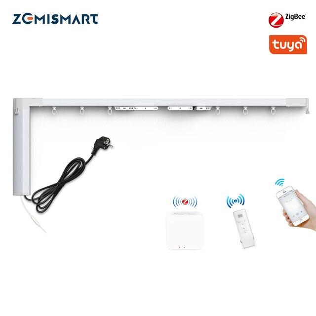 Zemismart Tuya Zigbee занавес трек Alexa Echo Google управление дома через Smart Life смарт вещи электрические шторы