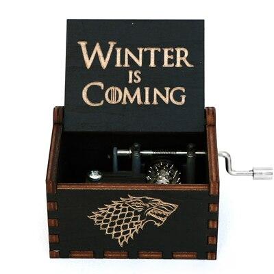 Прямая поставка, черная деревянная музыкальная шкатулка, игра в трон, Caja, музыкальная Zelda, ручная работа, Деревянная Музыкальная Коробка, рождественский подарок - Цвет: GB-QL1-BK