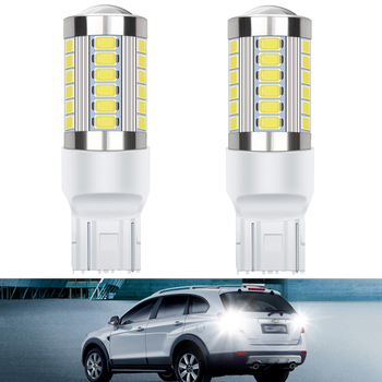 2Pcs Canbus T20 7443 W21W LED Bulbs 1156 BA15S 3157 3156 Car Backup Reverse Light for BMW E60 E90 E91 Ford Fiesta Fusion Focus image