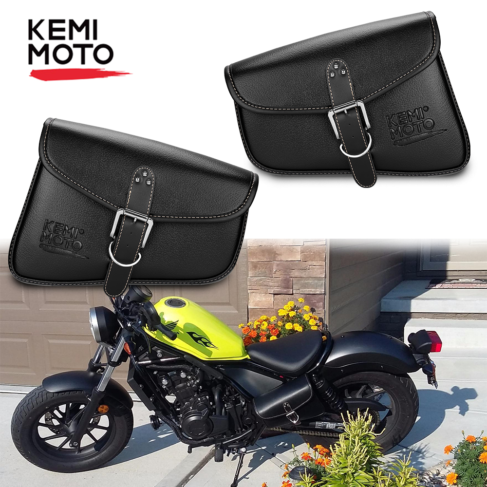 Motorcycle Saddle Bag Saddlebags Swingarm Leather Side Bag For Sportster Xl 883 Iron 1200 Softail Dyna Low Rider Heritage