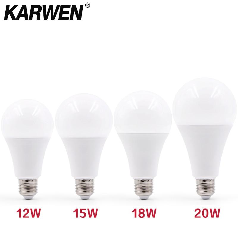 3W 6W 9W 12W 15W 18W 20W LED Bulb Lamps E27 E14 Light Bulb 220V-240V Smart IC High Brightness Lampada LED Bombillas