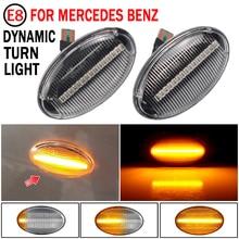 2 sztuk Led dynamiczny kierunkowskaz światło obrysowe boczne dla Mercedes Benz Smart W450 W452 a klasa W168 Vito W639 W447 Citan W415