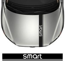 Coche campana cubierta del motor deportivo de estilismo y pegatinas calcomanías para Smart 451 de 453 dos cuatro Auto decoración Exterior Accesorios