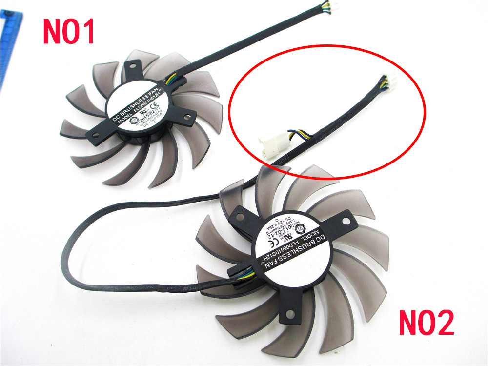 PLD08010S12H Fan For GeForce <font><b>GTX</b></font> 560 460 <font><b>Ti</b></font> R7 260x R270X MSI 560 <font><b>Ti</b></font> ASUS <font><b>GTX</b></font> 1050 <font><b>TI</b></font> Sapphire 6930 7850 <font><b>GTX</b></font> <font><b>550</b></font> 750 <font><b>Ti</b></font> HD7870 image