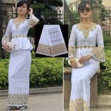 Nijeryalı Swiss isviçre vual dantel yüksek kaliteli afrika İsviçre % 100% pamuk dantel kumaş taşlı delikli elbise dikiş F1760