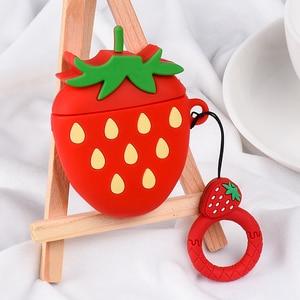 Image 5 - 딸기 과일 무선 블루투스 이어폰 케이스 애플 airpod 실리콘 헤드폰 케이스 airpods 케이스 커버 에어 포드에 대 한