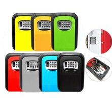 Boîte de serrure de stockage de clé boîte de serrure à combinaison à 4 chiffres clé coffre fort porte clé de sécurité boîte de serrure murale