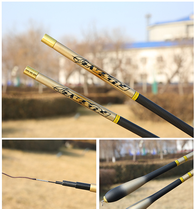 Novo estilo carpa vara de pesca 2.7-6.3