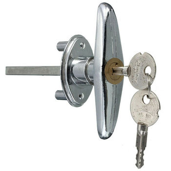 Release lock for garage door opener, security emergency garage door release lock overhead garage door opener