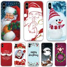 Merry Christmas Phone Cover Case For BQ Aquaris X2 X Pro U U2 Lite V X5 E5 M5 E5s C VS Vsmart JOY Active 1 Plus 5035 5059 Fundas(China)