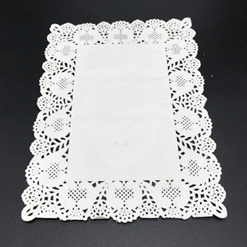 Oval Fashion Paper Lace Doyleys Doilies  Crafting Wedding Party Catering Coaster