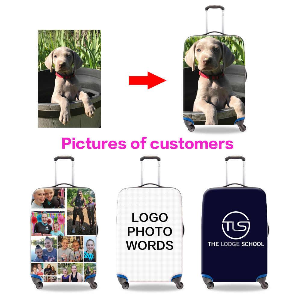 Personalizado bagagem protetor capa clara malas capas de bagagem à prova dwaterproof água acessórios sacos de viagem trole caso capa